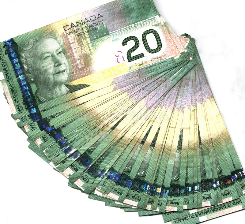 Download Fanned Out Canadian Twenty Dollar Bills Stock Photo - Image: 1975822