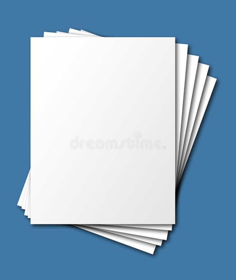 Fanned, stacked paper, isolated
