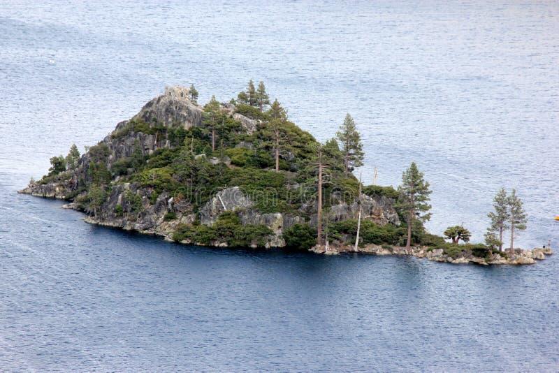 Fannette海岛,鲜绿色海湾,加利福尼亚,美国 库存图片