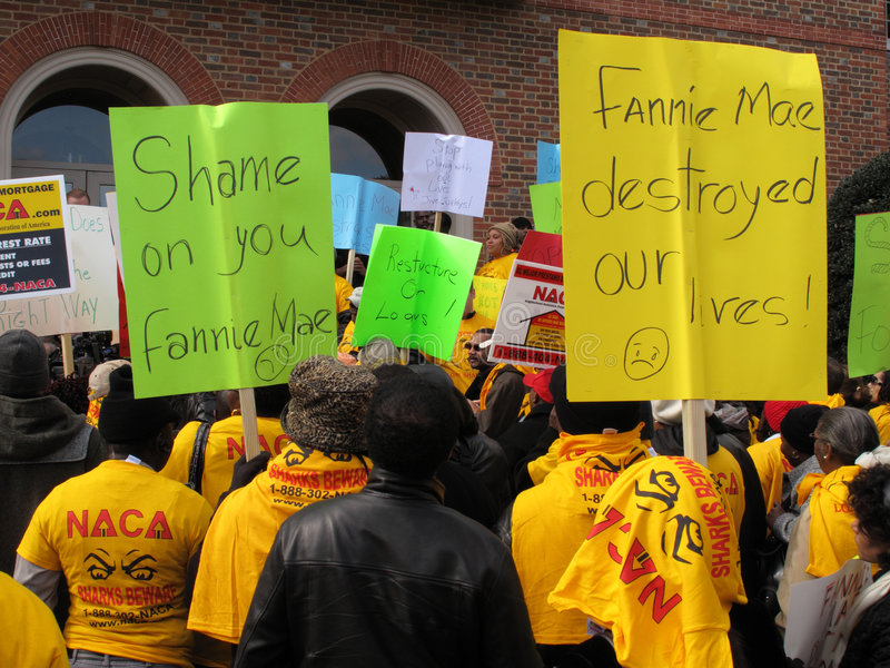 Fannie Mae Protesters Editorial Stock Photo