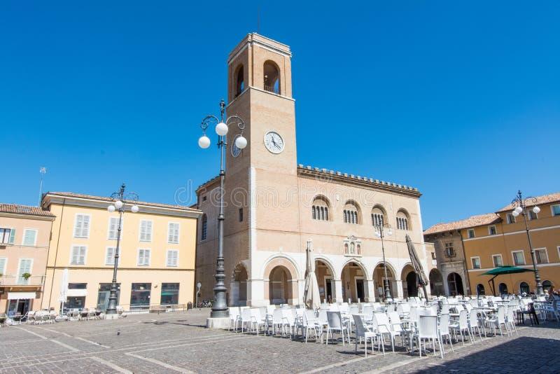 Fano, Pesaro, Marken, Italien Palazzo Del Podesta lizenzfreie stockbilder