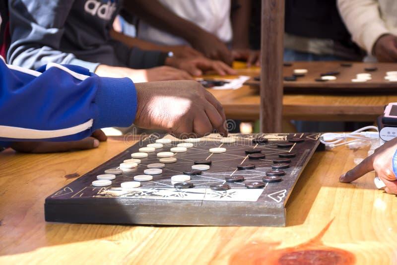 Fanorona - madagassisches Spiel stockbilder