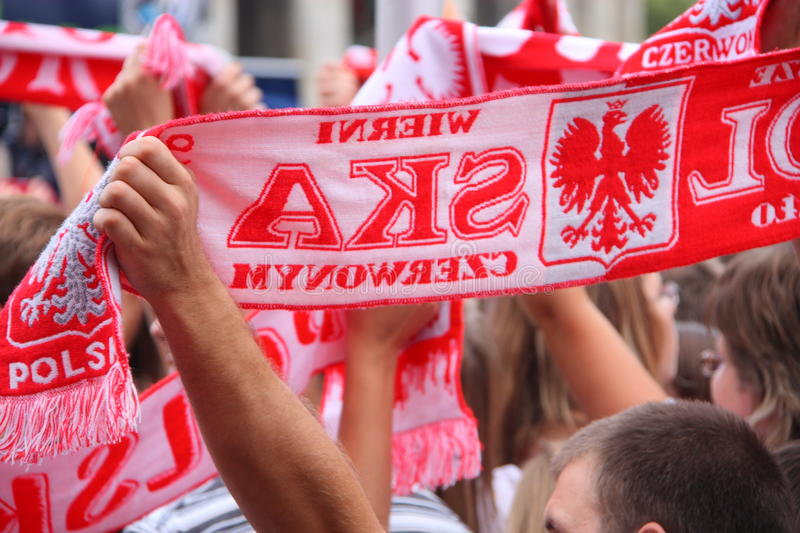 Download Fans stock image. Image of scarves, crowd, white, polish - 10950951