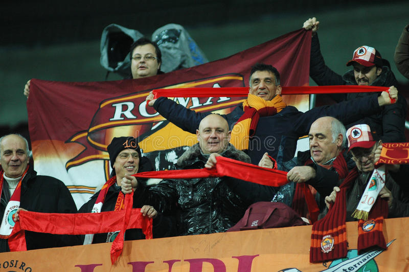 Fans of AS Roma at a match