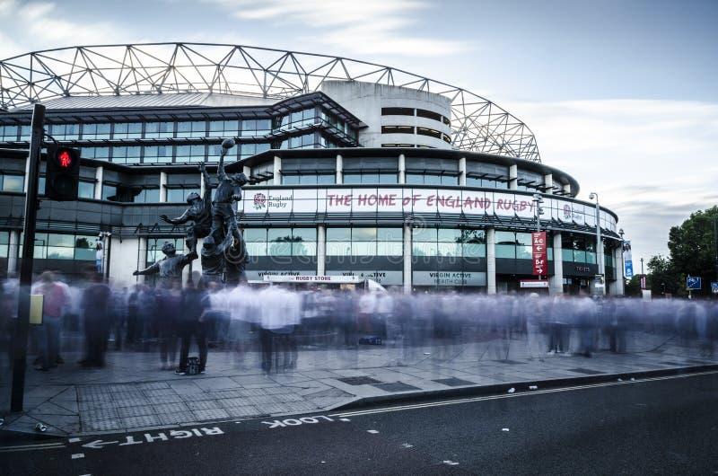 Fans au Twickenham Stadium photos stock