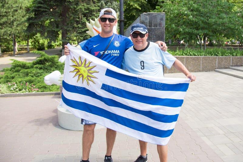 Fans av Uruguay arkivfoto
