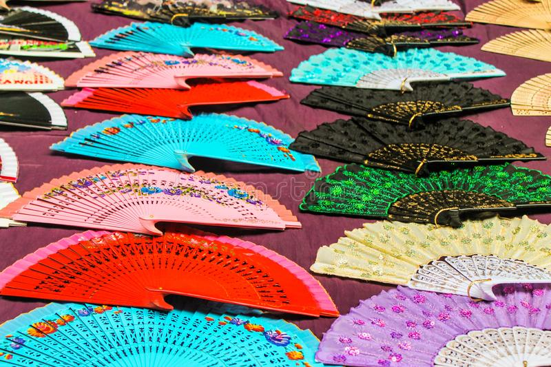 Fans Background Backdrop Asia Elegance Texture stock photography