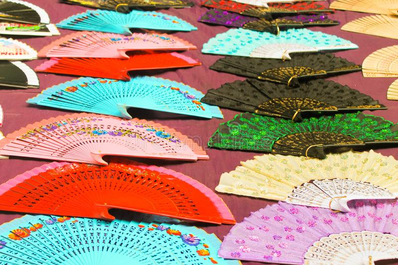 Fans Background Backgrounds Oriental Retro Texture stock photography