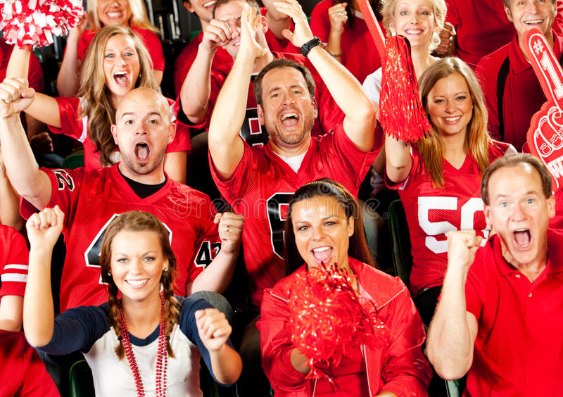Fans: Crazy Fans Cheer for Team royalty free stock images