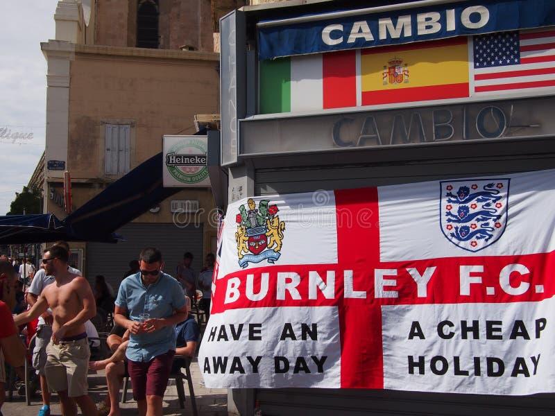 Fans de Inglaterra en Marsella imagenes de archivo