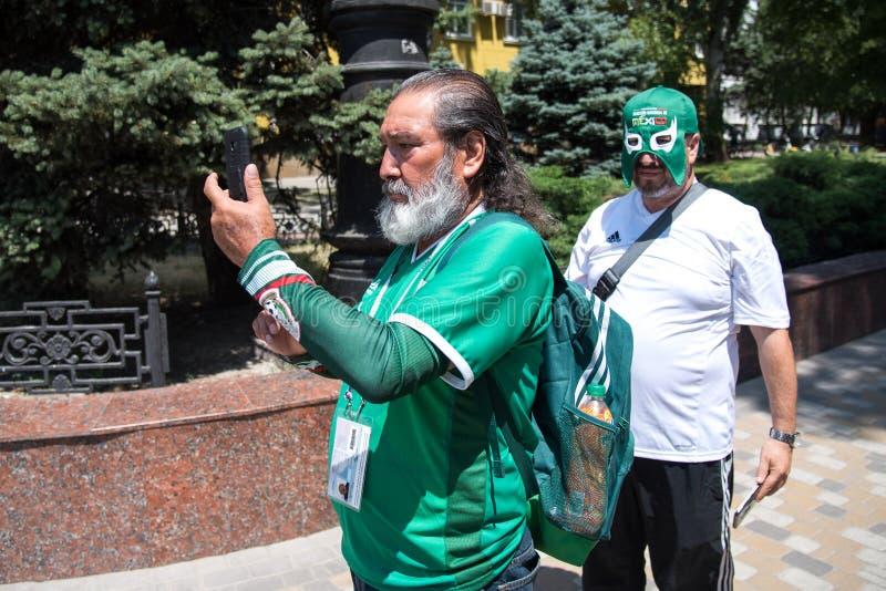 Fans del mexicano imágenes de archivo libres de regalías
