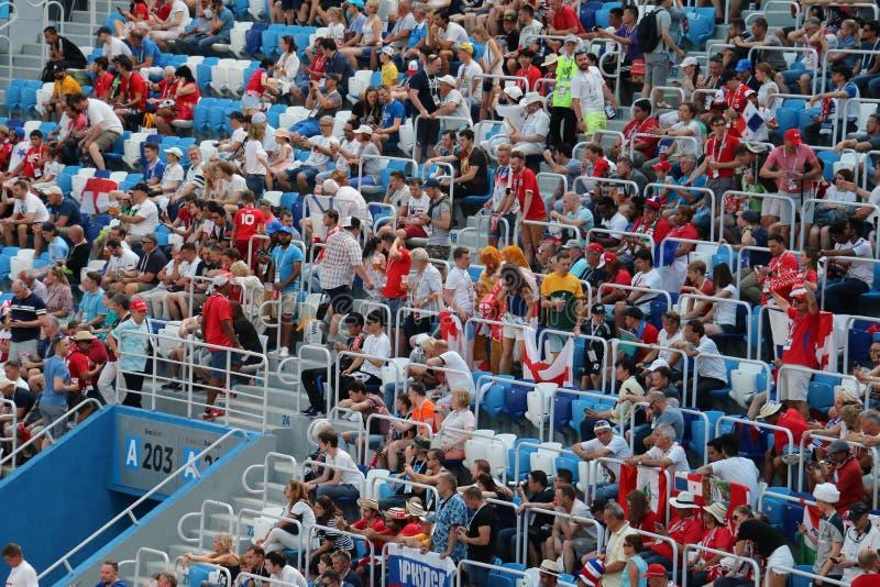 Fans del mundial de Panamá Inglaterra - 2018 foto de archivo libre de regalías