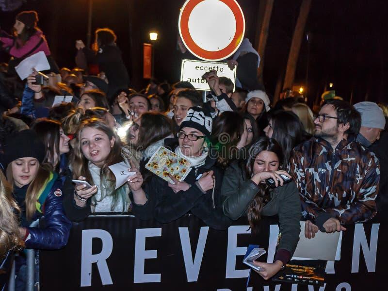 Fans italiennes de Leonardo DiCaprio photographie stock