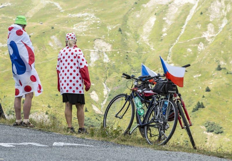 Fans of Le Tour de France stock image