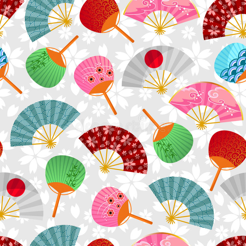 Download Fans pattern stock vector. Image of decorative, elements - 28534804