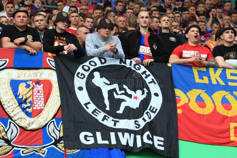 Fans Piast Gliwice stockbild