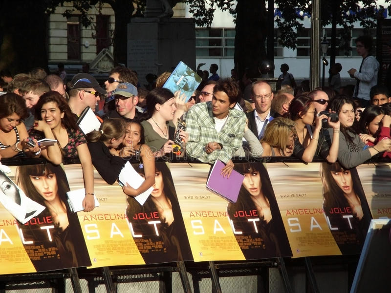 Fans At Salt Premiere Editorial Photo