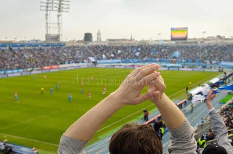Fans At A Stadium. Royalty Free Stock Photography
