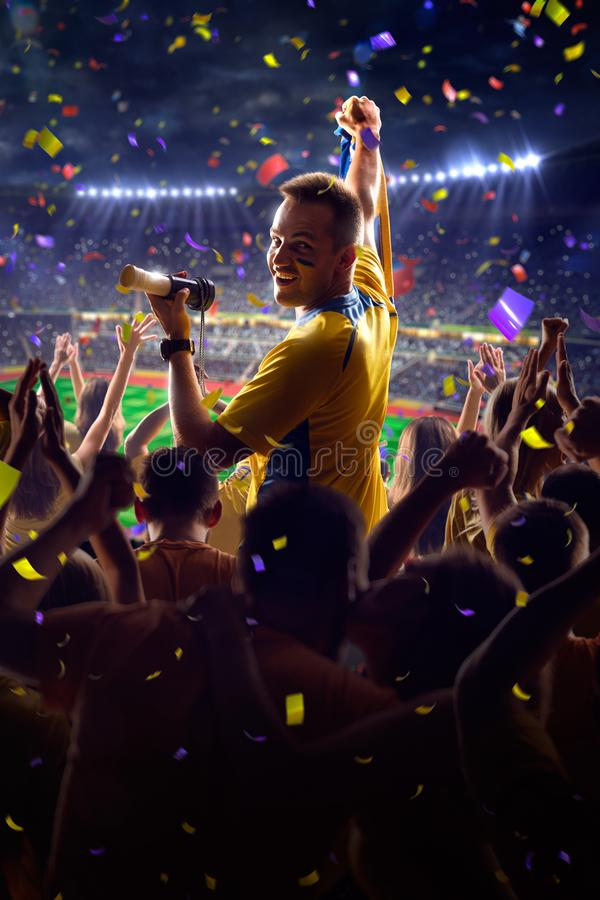 Fans on stadium game royalty free stock photography