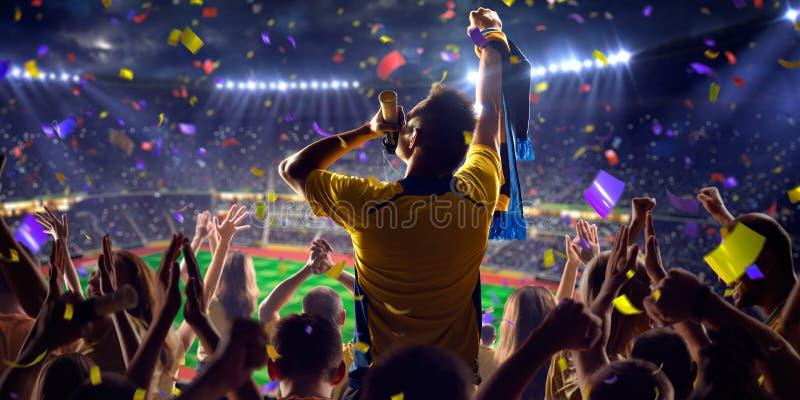 Fans sur le jeu de stade photos stock