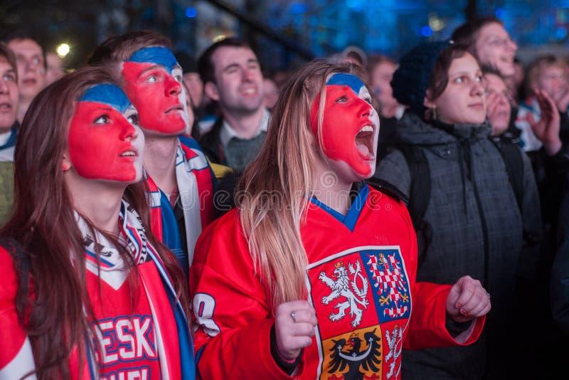 Fans tchèques photographie stock