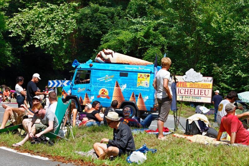 Download Fans of Tour de France editorial photography. Image of aubisque - 24934392