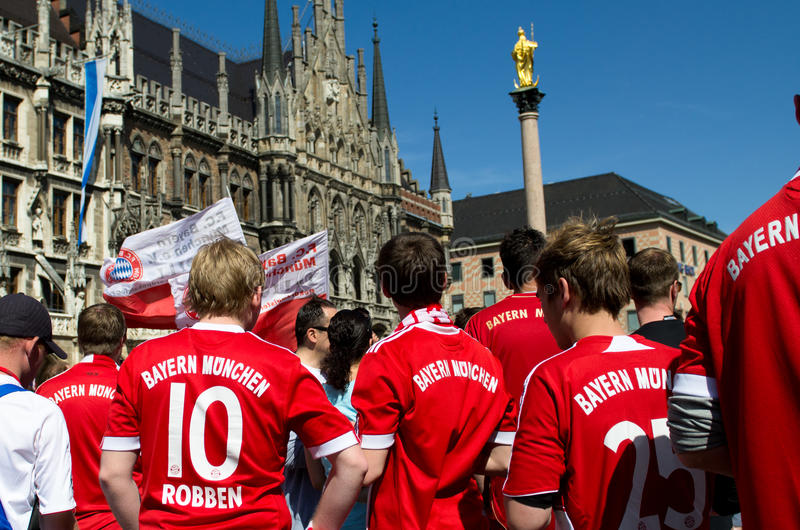 Fans at the UEFA Champions League Finale in Munich