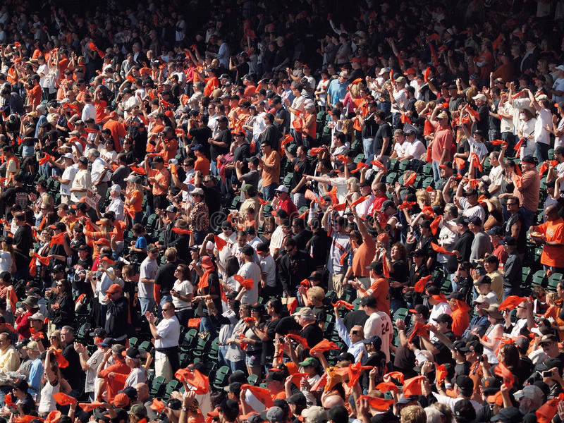 Download Fans Wave Orange Rags And Cheer Before Game Editorial Stock Photo - Image: 16569393