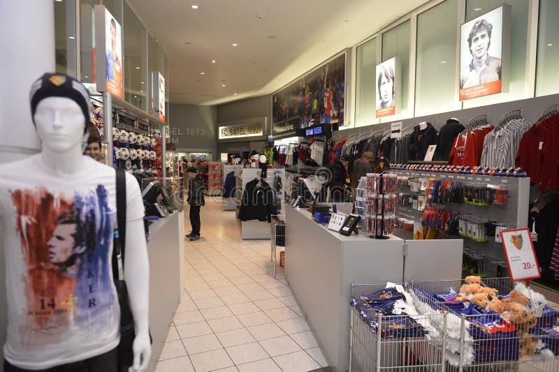 Fanshop do oficial do FC Basel fotos de stock