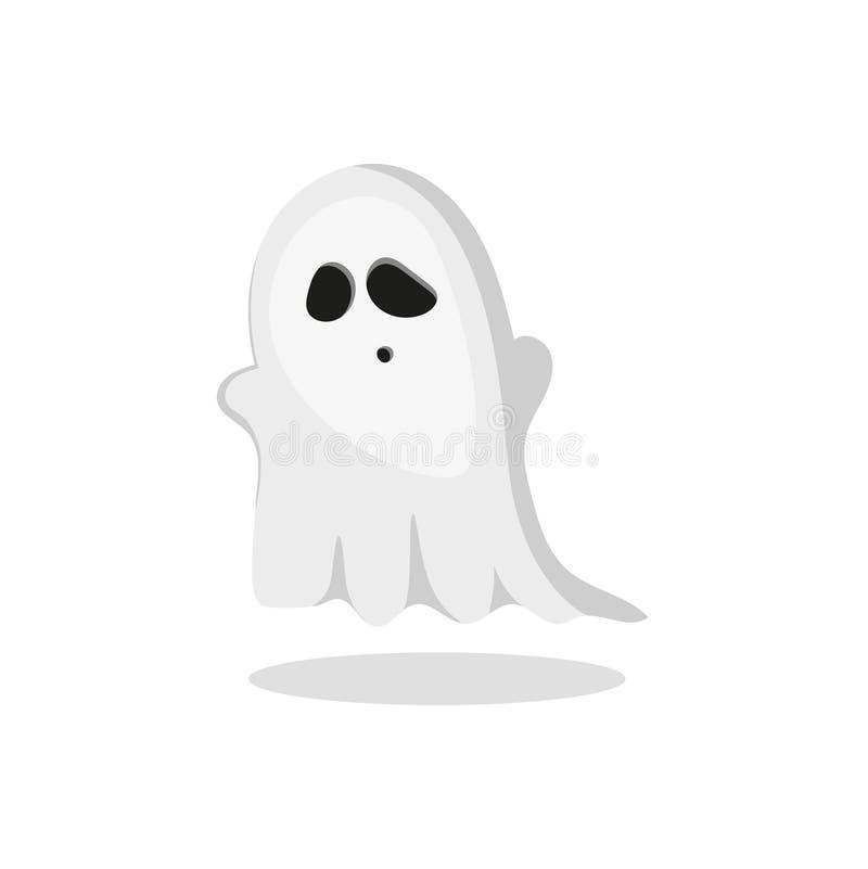Fantôme de gris de vecteur illustration libre de droits