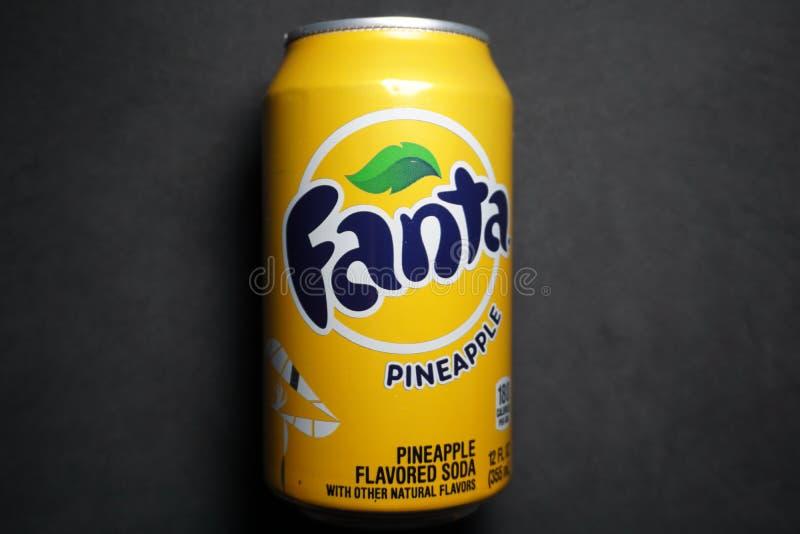 Fanta ananasa koka-kola zdjęcie stock