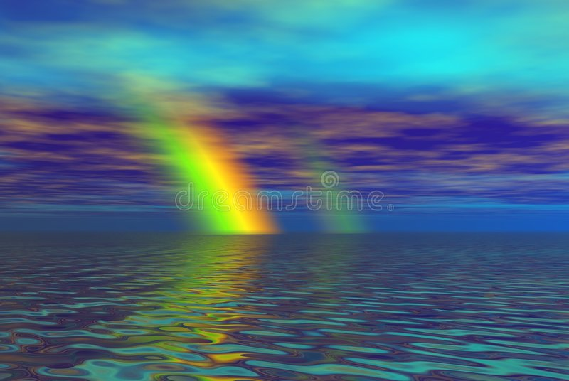 Download Fantacy rainbow stock illustration. Illustration of abstract - 881388