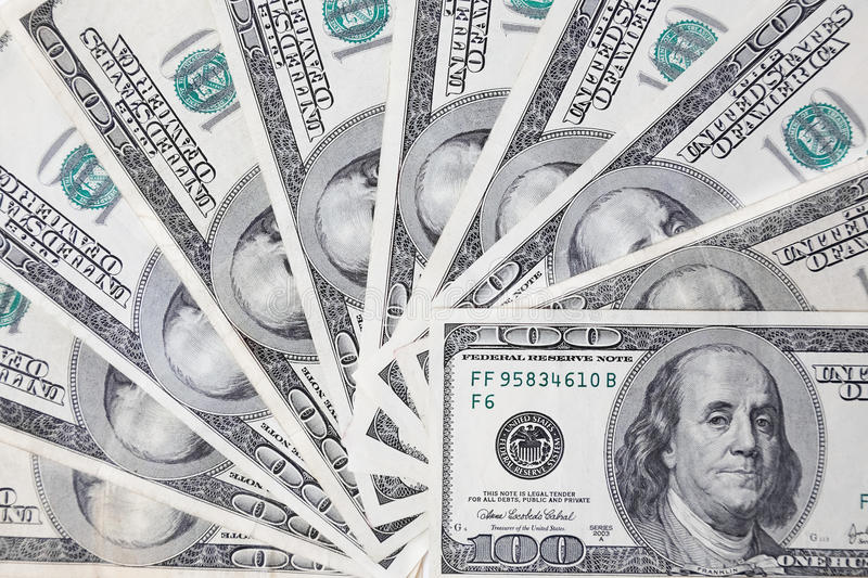 Download Fantail of hundred dollars stock image. Image of note - 15782043
