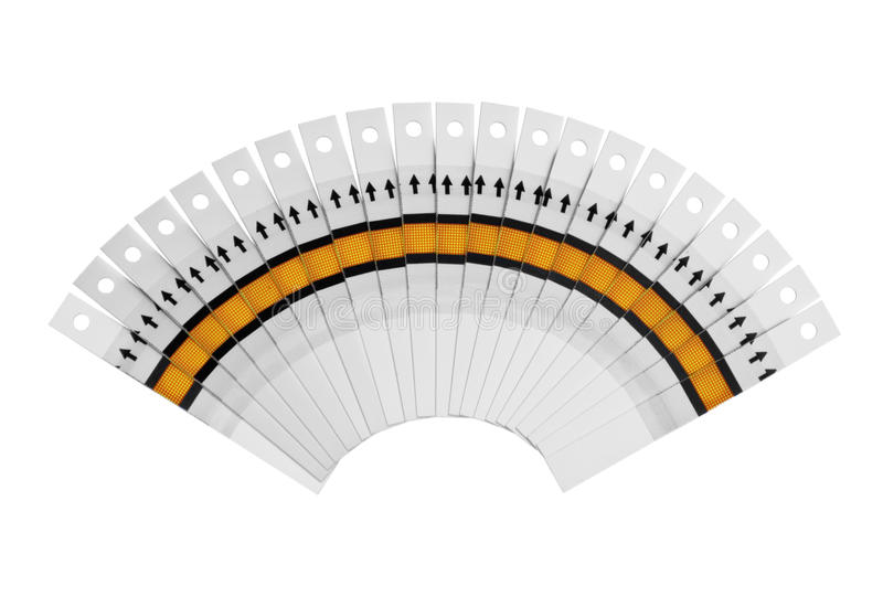 Fantail of the test strips royalty free stock photo