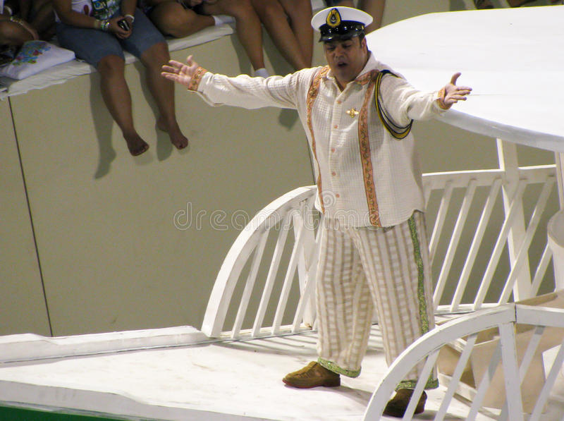 Fantaisie étonnante pendant le carnaval annuel en Rio de Janeiro image stock