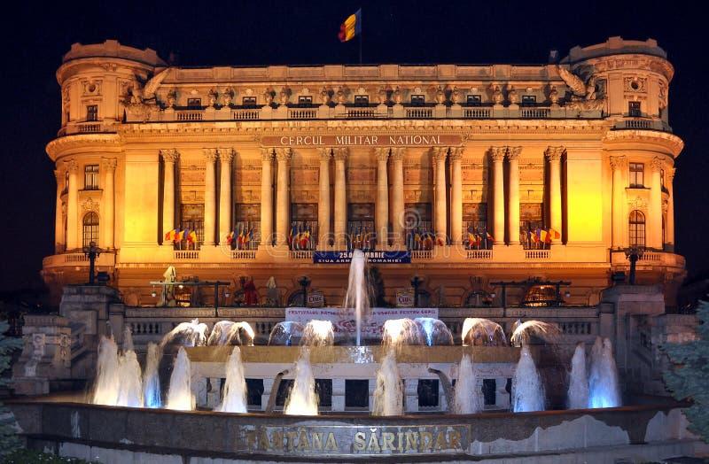 Fantana Sarindar Fountain Bucharest Romania night city center landmark royalty free stock photos