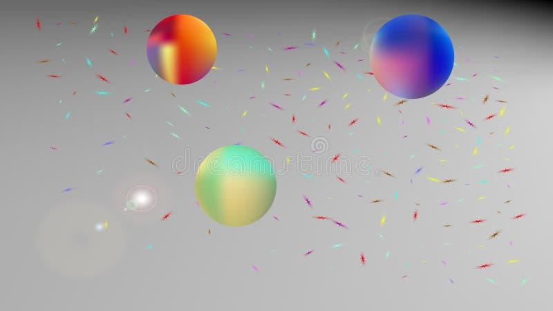 Fantasía abstracta común del espacio prístina stock de ilustración