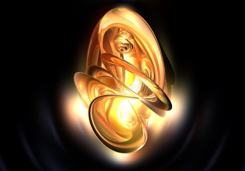 Fantasía anaranjada ilustración del vector