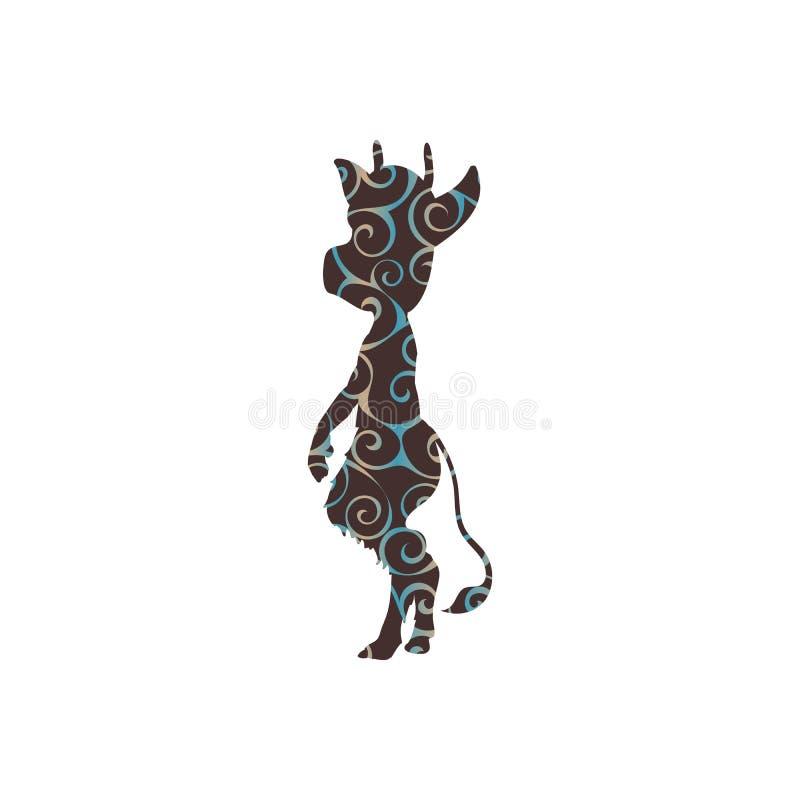 Fantasía antigua de la mitología de la silueta del modelo del Imp stock de ilustración