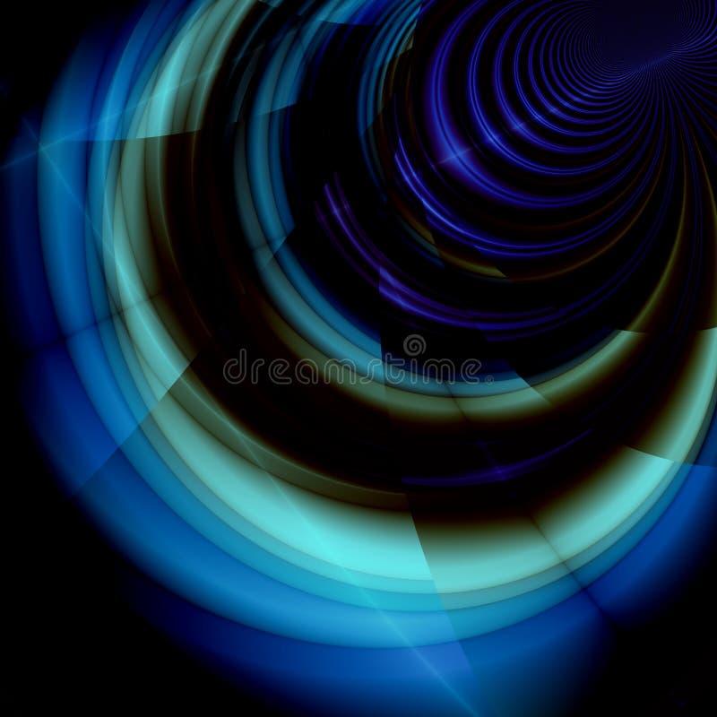 Fantasía azul ilustración del vector