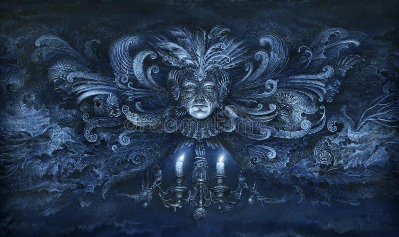 Fantasía barroca ilustración del vector