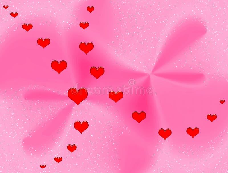 Fantasía de las tarjetas del día de San Valentín ilustración del vector