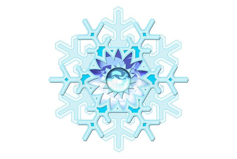 Fantasía del copo de nieve ilustración del vector
