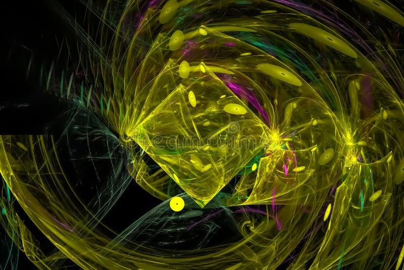 fantasía digital abstracta del fractal del poder vibrante stock de ilustración