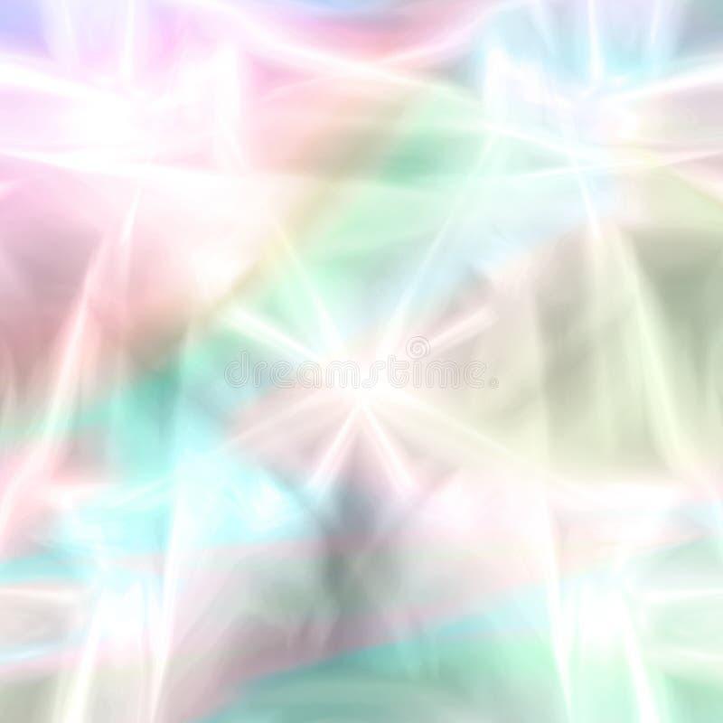 Fantasía en colores pastel de los fuegos artificiales stock de ilustración