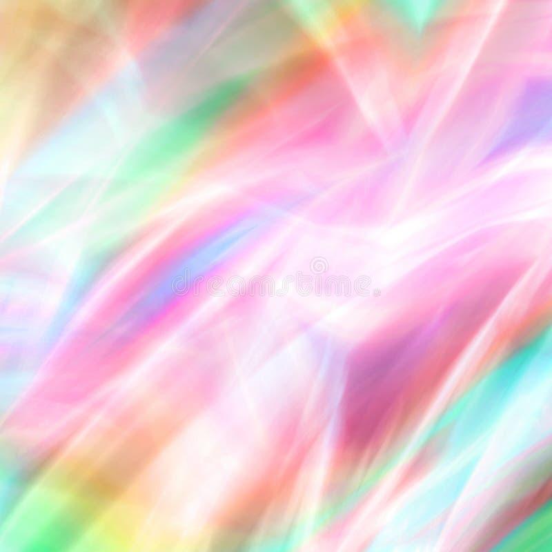 Fantasía en colores pastel de los fuegos artificiales ilustración del vector