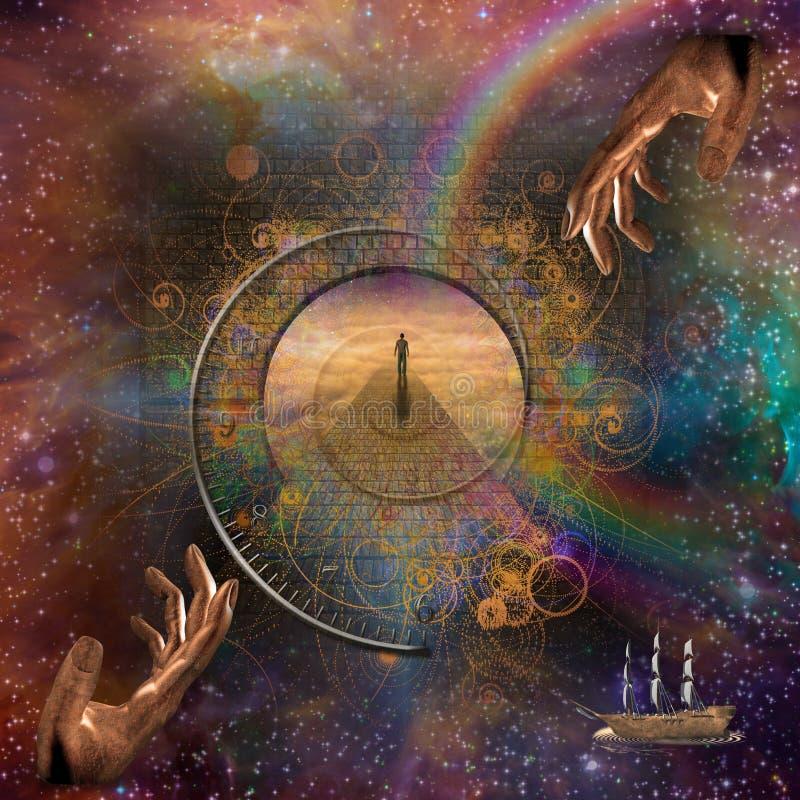 Fantasía eterna stock de ilustración