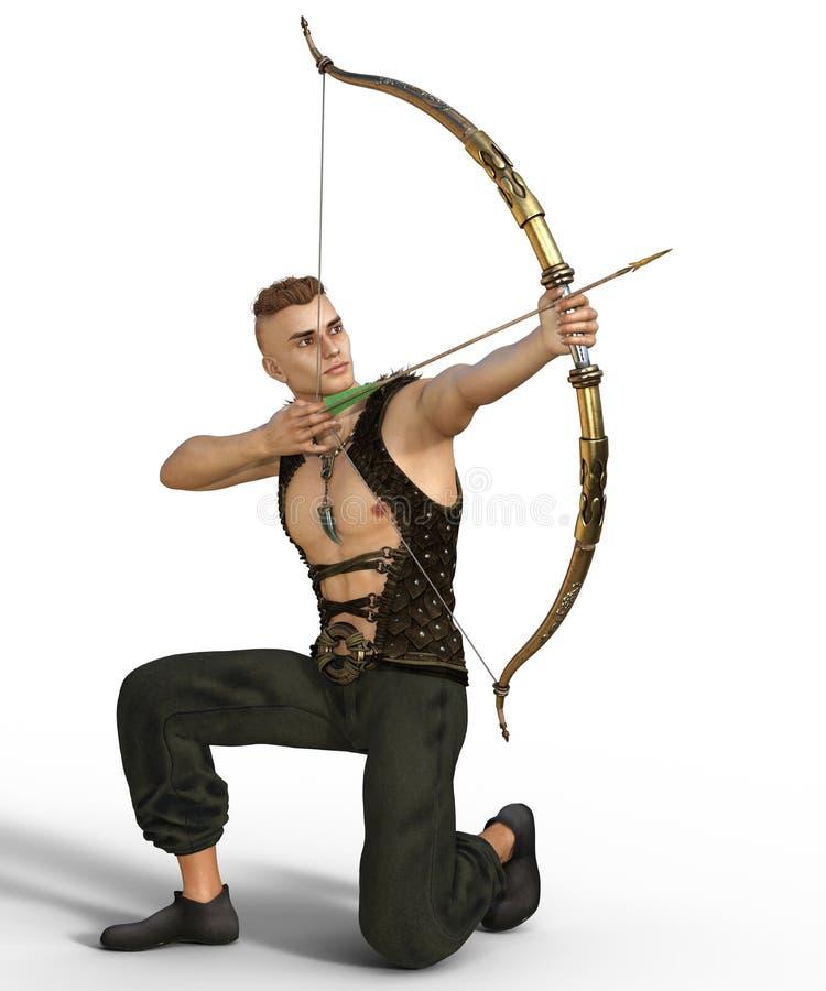 Fantasía hermosa Archer stock de ilustración