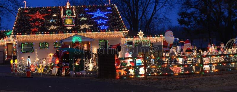 Fantasía maravillosa de las luces de la Navidad fotografía de archivo