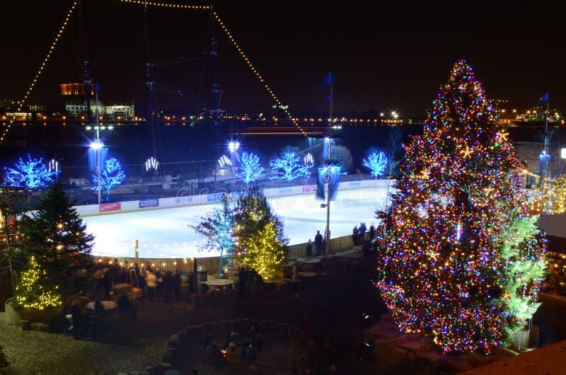 Fantasía maravillosa de las luces de la Navidad foto de archivo libre de regalías